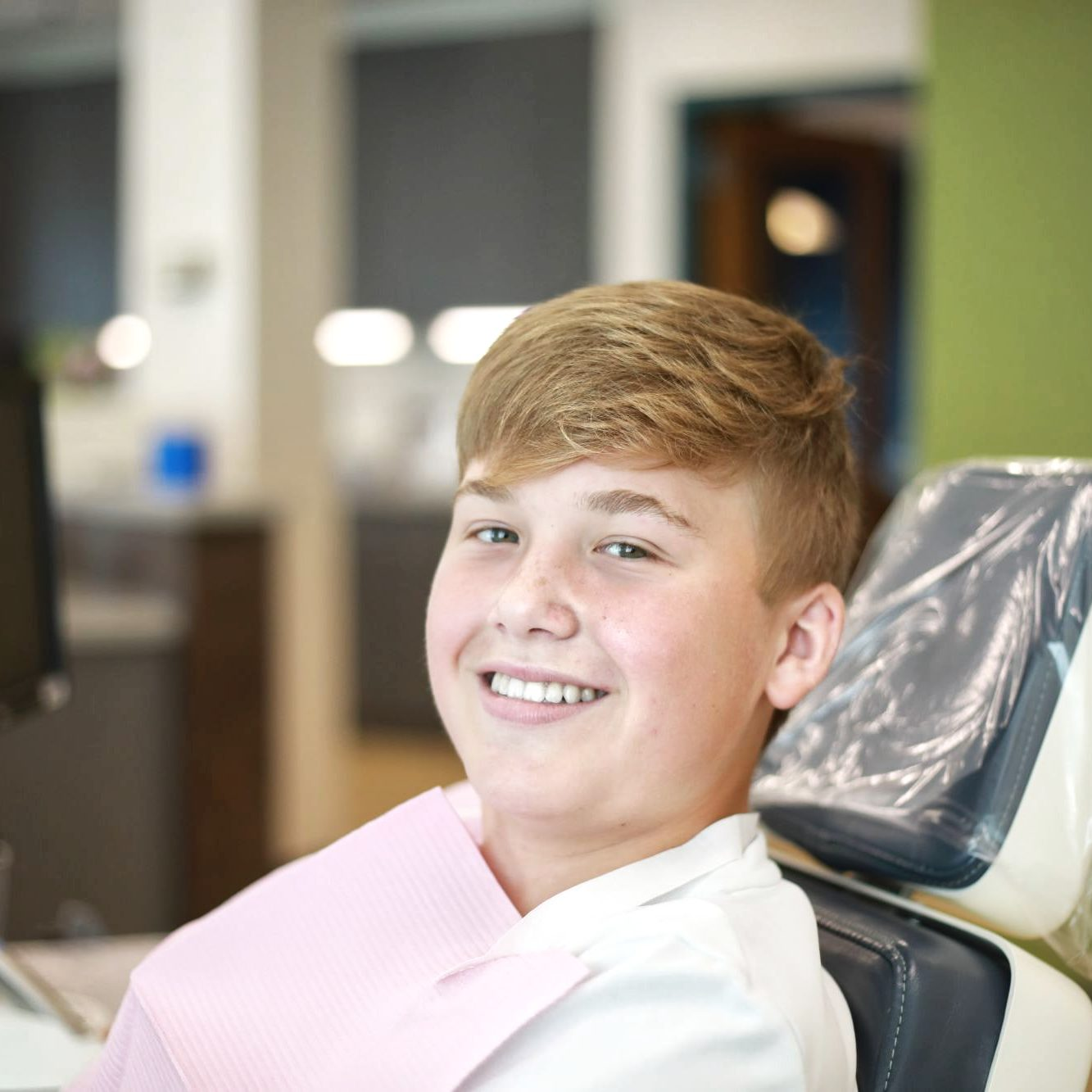 teen patient smiling during a visit